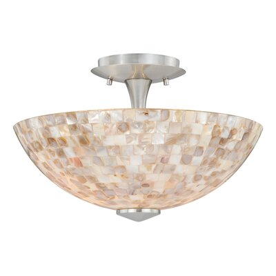 Moris 2-Light Semi Flush Mount