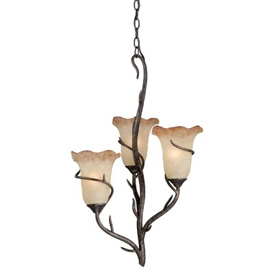 Polzin 3-Light Shaded Chandelier