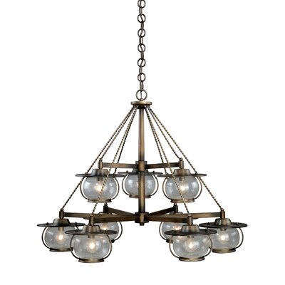Karole 9-Light Shaded Chandelier
