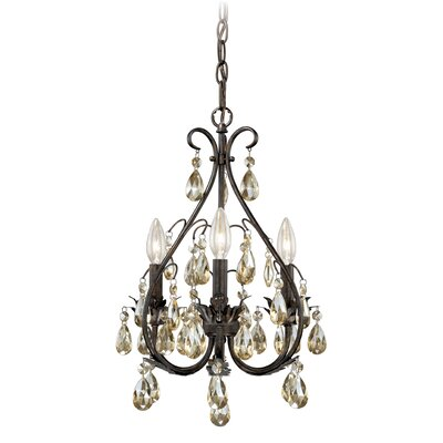 Alicia 3-Light Crystal Chandelier
