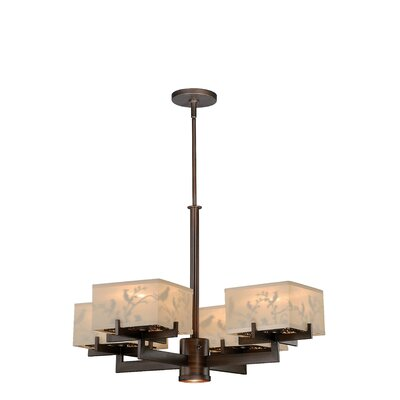 Poppe 4-Light Shaded Chandelier