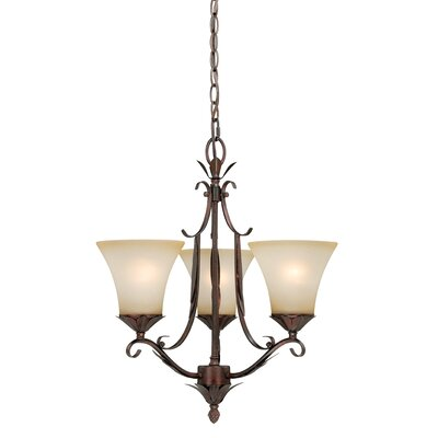 Coricelli 3-Light Shaded Chandelier
