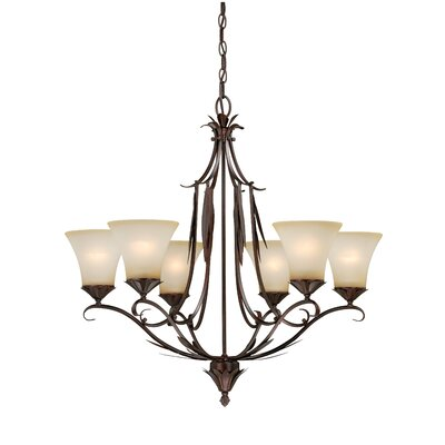 Coricelli 6-Light Shaded Chandelier
