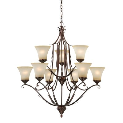 Coricelli 9-Light Shaded Chandelier
