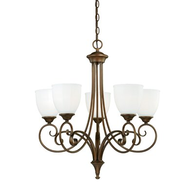 Claret 5-Light Shaded Chandelier