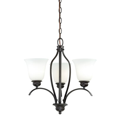 Nicholas 3-Light Shaded Chandelier Finish: New Bronze