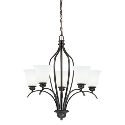 Nicholas 5-Light Shaded Chandelier Finish: New Bronze