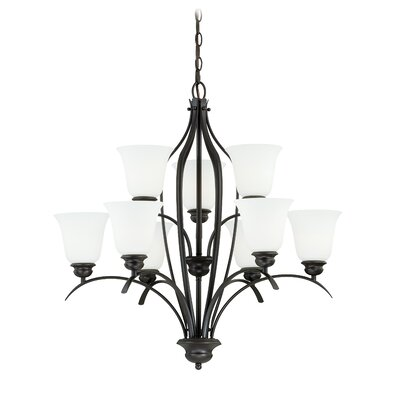 Darby 9-Light Shaded Chandelier Finish: New Bronze