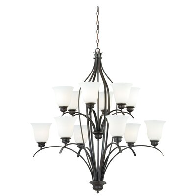 Nicholas 12-Light Shaded Chandelier Finish: New Bronze