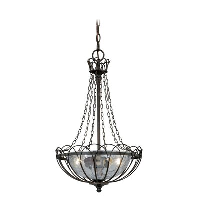 Flippen 2-Light Bowl Pendant