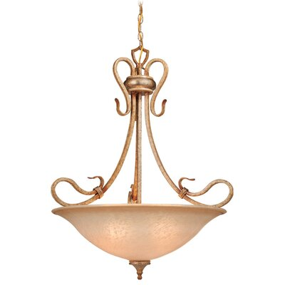 Berkeley 4-Light Inverted Pendant Finish: Corinthian Patina