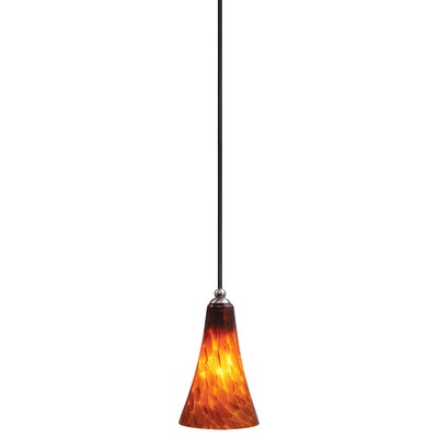 Dominique Modern 1-Light Mini Pendant Shade Color: Umbra Glass, Size: 5.25 W