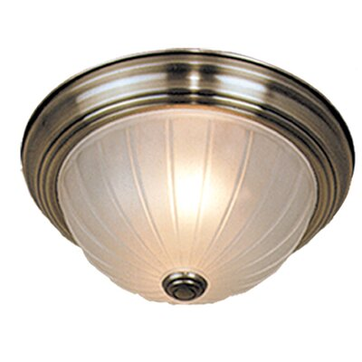 Brundage 5.25 Flush Mount Color: Antique Brass, Size: 5.25 H x 13.25 W x 13.25 D