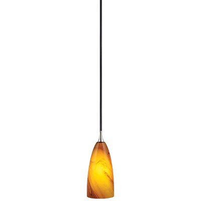 Milano 1-Light Mini Pendant Size: 3.88 W, Shade Color: Honey Ripple Glass