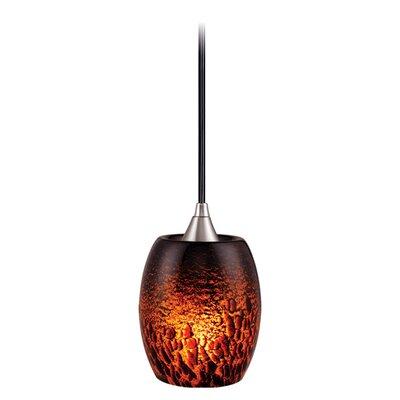 Milano 1-Light Mini Pendant Size: 5.25 W, Shade Color: Dark Umbra Glass