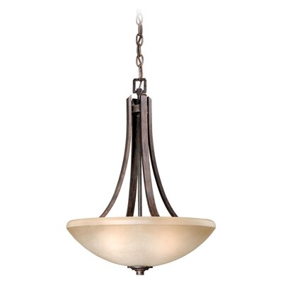 Helsinki 3-Light Inverted Pendant Finish: Black Walnut