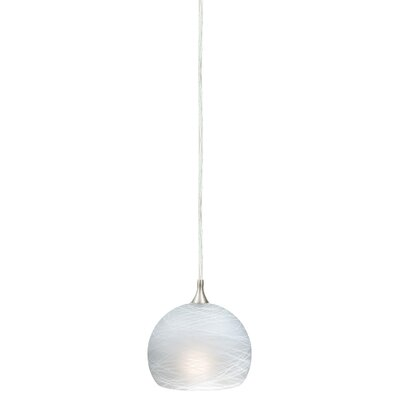Dominique 1-Light Mini Pendant Glass Type: Cocoon White, Size: 4.5 H