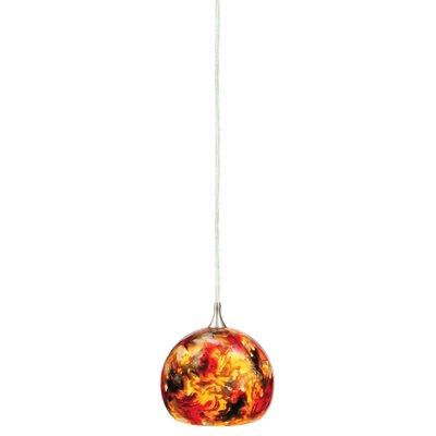 Dominique 1-Light Mini Pendant Glass Type: Ember Melange, Size: 6.9 H
