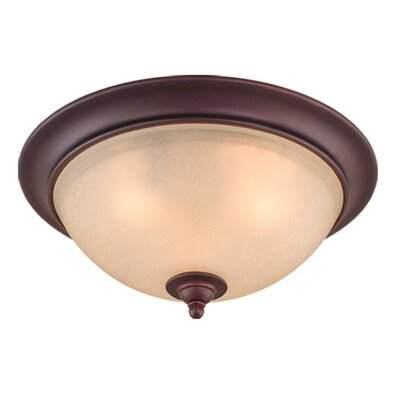 Bourbon Flush Mount Size: 15