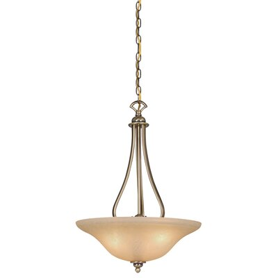 Monrovia 3-Light Inverted Pendant Finish: Antique Brass