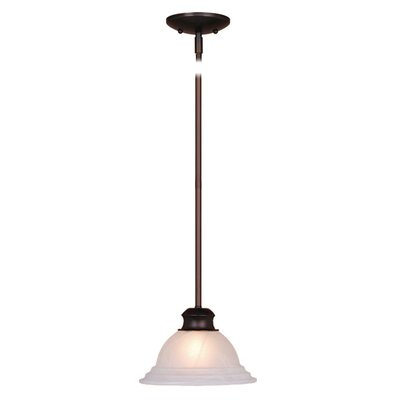 Broxton 1-Light Mini Pendant Color: Oil Burnished Bronze