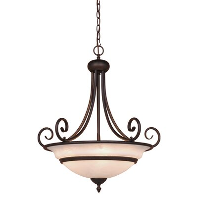 Da Vinci 5-Light Inverted Pendant Finish: Oil Burnished Bronze