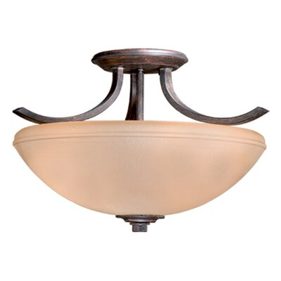 Morford 2-Light Convertible Inverted Pendant Finish: Black Walnut