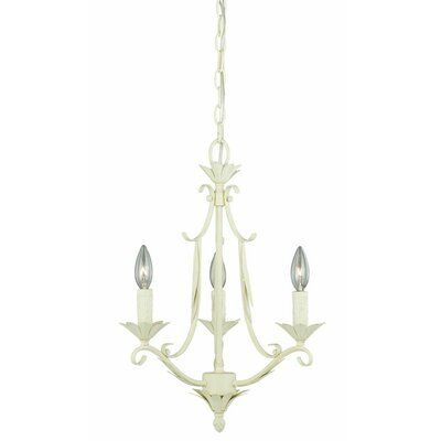Austen 3-Light Candle-Style Chandelier Finish: Gilded Patina