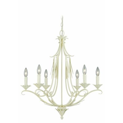 Austen 6-Light Candle-Style Chandelier Finish: Gilded Patina