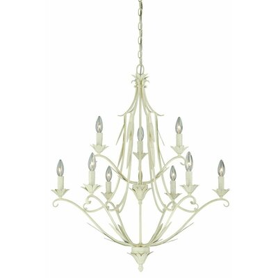Austen 9-Light Candle-Style Chandelier Finish: Gilded Patina