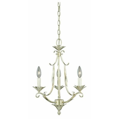 Austen 3-Light Candle-Style Chandelier Finish: Silver Leaf
