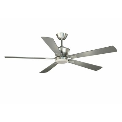 52 Seabrooks 5-Blade DC Ceiling Fan Finish: Satin Nickel