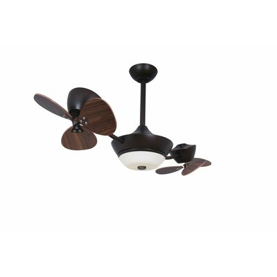 42 Eclipse II 6-Blade 2-Rotor DC Ceiling Fan Finish: Oil Rubbed Bronze