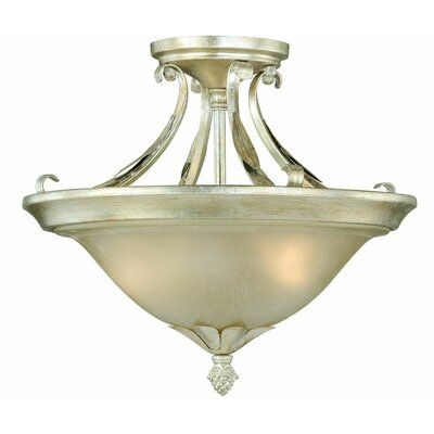 Pucklechurch Semi-Flush Mount Color: Silver Leaf