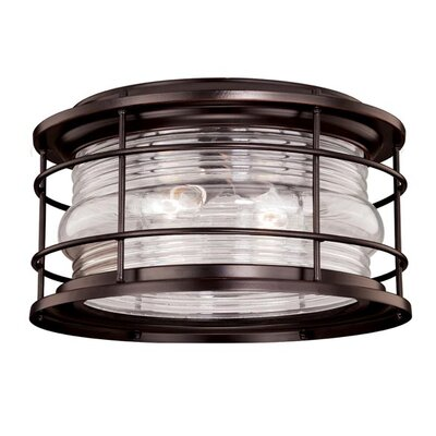 Hyannis 2-Light Flush Mount Finish: Burnished Bronze