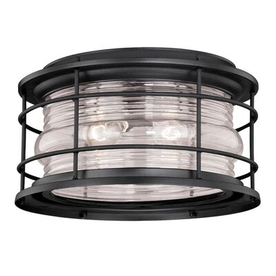 Hyannis 2-Light Flush Mount Finish: Textured Black