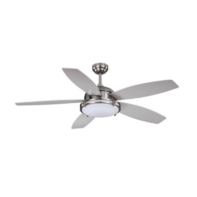 52 Tali 5-Blade LED Ceiling Fan Finish: Satin Nickel with Silver Blades
