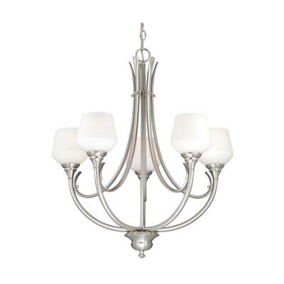 Grafton 5-Light Shaded Chandelier Finish: Satin Nickel