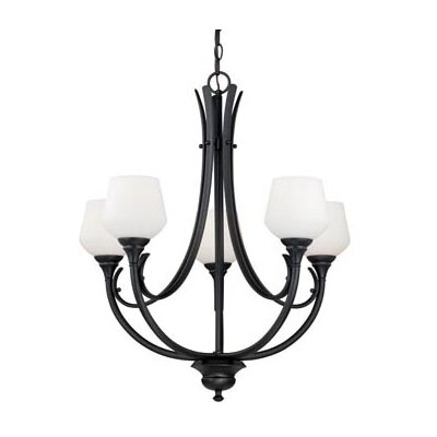 Grafton 5-Light Shaded Chandelier Finish: Oil Rubbed Bronze
