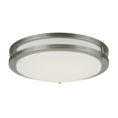 Horizon LED Flush Mount Finish: Satin Nickel