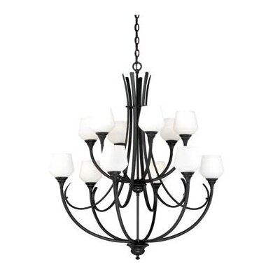 Grafton 12-Light Shaded Chandelier Finish: Oil Rubbed Bronze