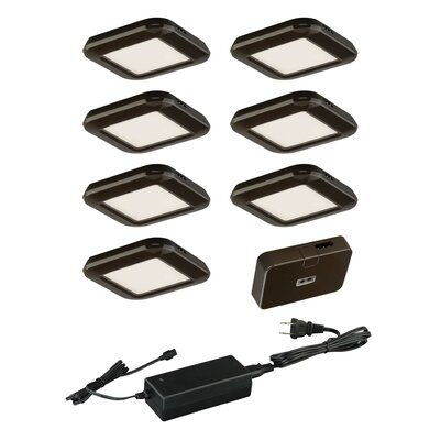 9 Piece Under Cabinet Puck Light Set Finish: Bronze