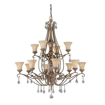 Avenant 12-Light Shaded Chandelier