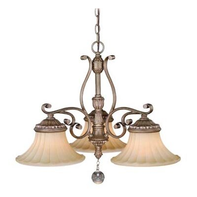Avenant 3-Light Shaded Chandelier