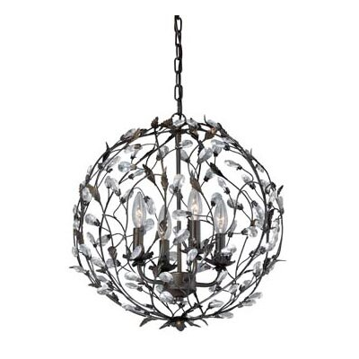 Trellis 4-Light Globe Pendant