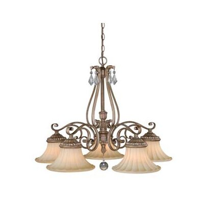 Avenant 5-Light Shaded Chandelier