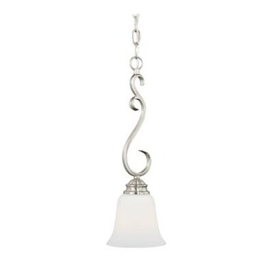 Elayne 1-Light Mini Pendant Finish: Satin Nickel
