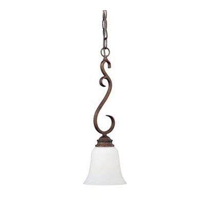Hartford 1-Light Mini Pendant Finish: Weathered Patina