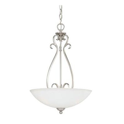 Hartford 3-Light Inverted Pendant Finish: Satin Nickel