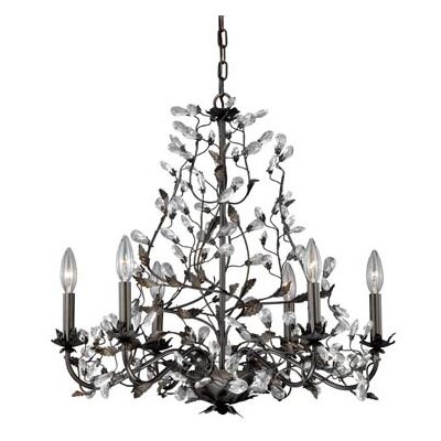 Trellis 6-Light Crystal Chandelier